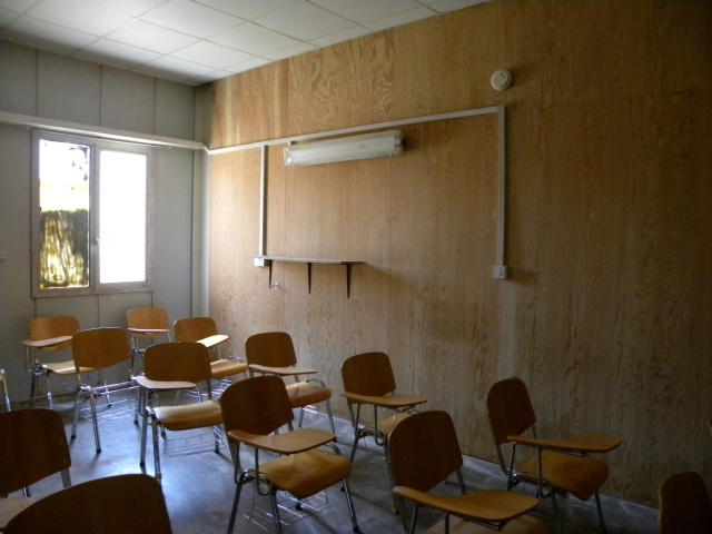 A classroom in the new school.  SO not a step up!  This is not my classroom but mine is similar.