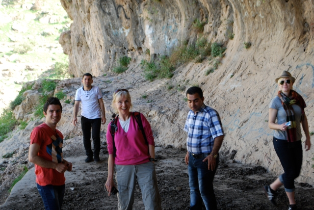 Left to right: Zherou, Haval behind, me in front, Bestoon and Gwen.