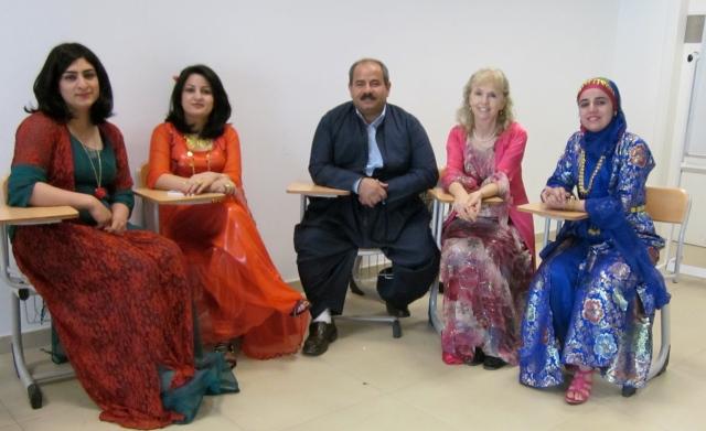 Section 2 - left to right: Beri, Dalya, Salahadin, me and Soz
