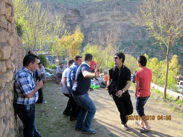 Diyar in something of a prance step