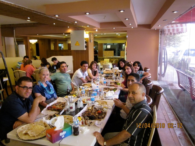 From left, going down:  Khalid, me, Bahez, Zanyar and Snwr.  Going directly across:  Beri, Dalya, Illham, Bestun and Ismael.